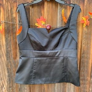 White House Black Market side zipper crop top